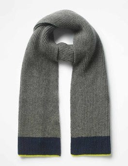 Grey Marl Cashmere Knitted Scarf