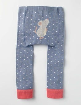 Wren Blue Mouse Knitted Leggings