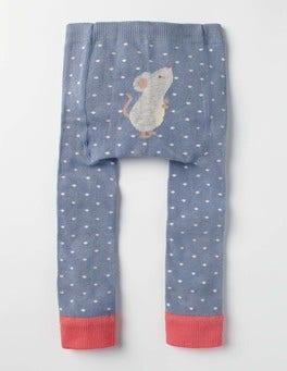 Wren Blue Mouse Knitted Leggings