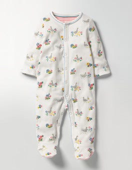 Multi Riverside Ducks Pretty Supersoft Sleepsuit