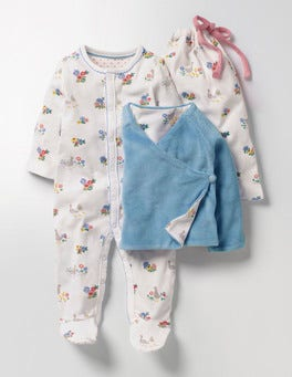 Multi Riverside Ducks Pretty Sleepsuit & Jacket Set