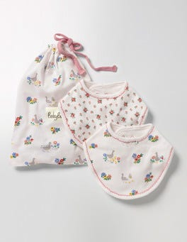 Multi Riverside Ducks 2 Pack Pretty Dribble Bibs