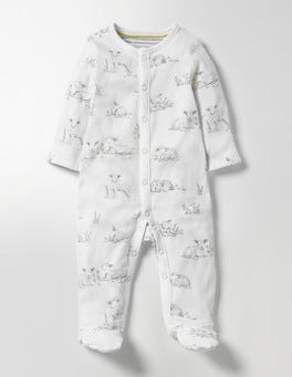 Ivory Lambs Lambs Supersoft Sleepsuit