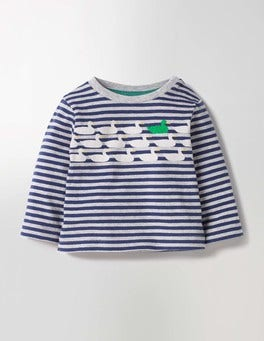Grey Marl/Beacon Blue Ducks Spot The Difference T-shirt