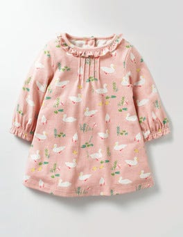 Milkshake Pink Ducks Pretty Printed Jersey Dress