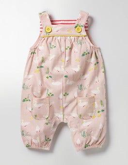 Milkshake Pink Ducks Printed Jersey Overalls