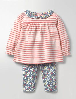 Ecru/Crab Apple Pink Printed Jersey Play Set