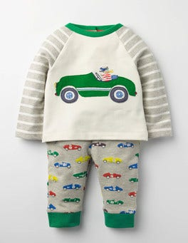 Grey Marl Vintage Cars Fun Jersey Play Set
