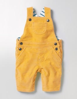 Sunshine Yellow Classic Cord Dungarees