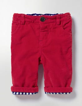 Engine Red Cosy Lined Cord Trousers