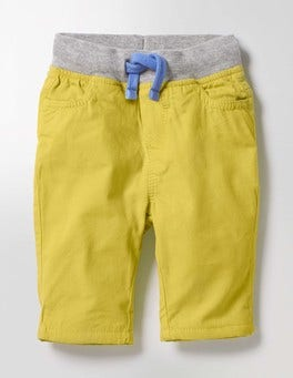 Sunshine Yellow Rib Waist Trousers