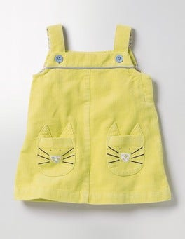 Sweetcorn Yellow Fun Cord Pinafore