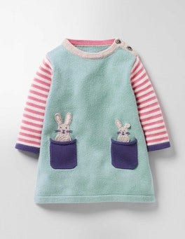 Pool Blue Bunnies Pet Pocket Knitted Dress