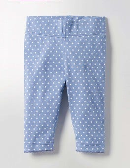 Wren Blue Pin Spot Baby Leggings