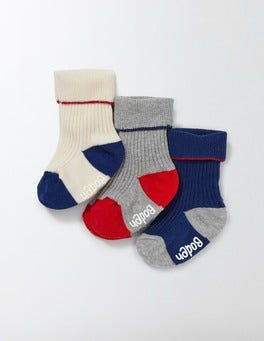 3 Pack Ribbed Socks