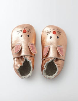 Rose Gold Baby Leather Shoes