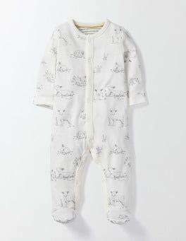 Ivory Lambs Lambs Super Soft Sleepsuit
