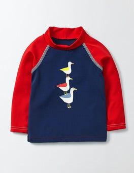 Marine/Seagulls Baby Rash Guard