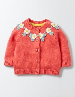 Raspberry Whip Pretty Flower Crochet Cardigan