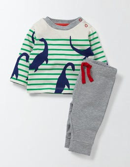Ivory/Astrogreen Stripe/Nessie Stripy Nessie Play Set