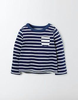 Beacon / Ivory stripe Fun Reversible T-Shirt