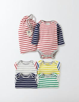 Multi Stripe Stripy 5 Pack Bodies
