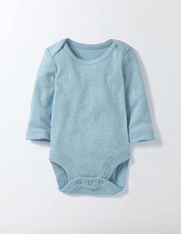 Mineral Blue Supersoft Pointelle Body