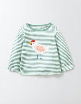 Sea Foam Crochet Appliqué T-Shirt