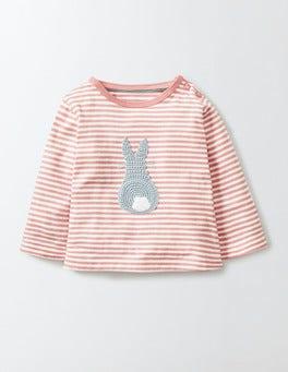 Chalky Pink Crochet Appliqué T-shirt
