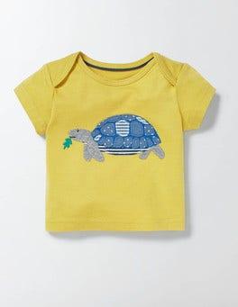 Cantaloupe/Tortoise Big Appliqué T-shirt