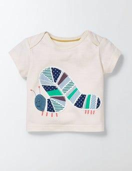 Ecru/Caterpillar Big Appliqué T-Shirt