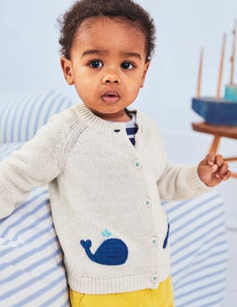 Whales Crochet Cardigan