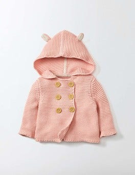 Chalky Pink Pretty Knitted Jacket