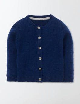 Soft Navy Baby Cashmere Cardigan