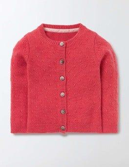 Soft Rosehip Baby Cashmere Cardigan