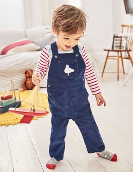 Seaside Appliqué Dungarees