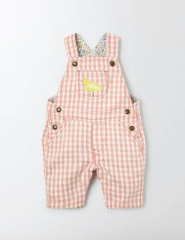 Chalky Pink Gingham Pretty Gingham Dungarees