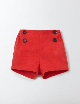 Salsa Red Classic Cord Shorts