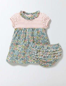 Mineral Blue Flower Bed Hotchpotch Jersey Dress