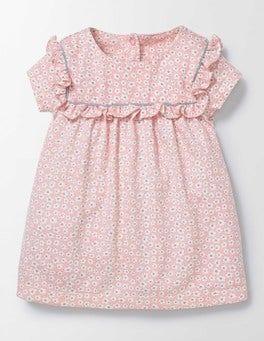 Peach Sorbet Poppy Ditsy Pretty Printed Jersey Dress