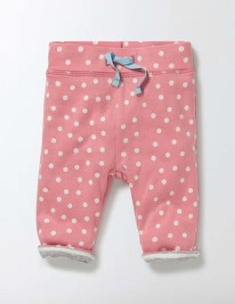 Peach Sorbet Confetti Spot Supersoft Reversible Trousers