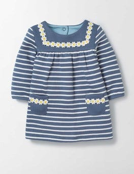 English China/Ivory Stripe Cosy Sailor Dress