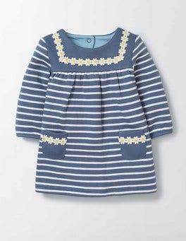 English China/Ivory Stripe Cosy Sailor Dress