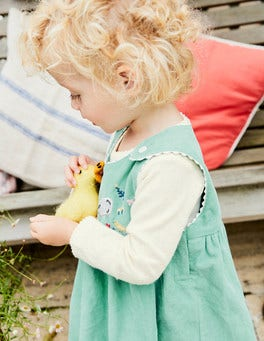 Farmyard Friends Cord Dress