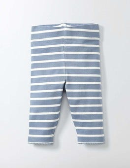 Bluebell/Ivory Stripe Baby Leggings