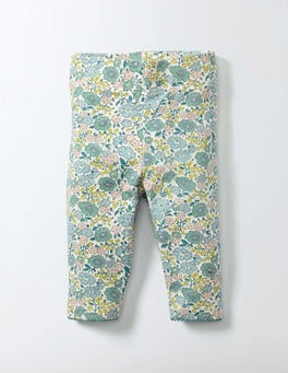 Mineral Blue Flower Bed Baby Leggings