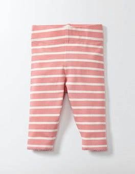 Peach Sorbet/Ivory Stripe Baby Leggings