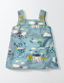 Mineral Blue Spring Farm Retro Pinnie