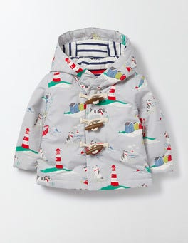 Boys Printed Duffle Jacket