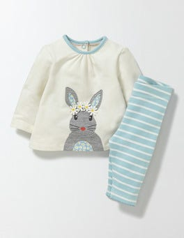 Ivory/Bunny Animal Friends Jersey Play Set
